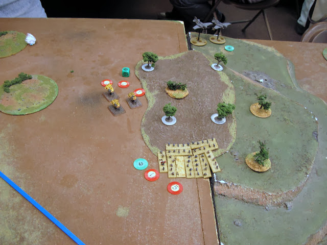 Speeders double and catch Guardsmen in a crossfire.