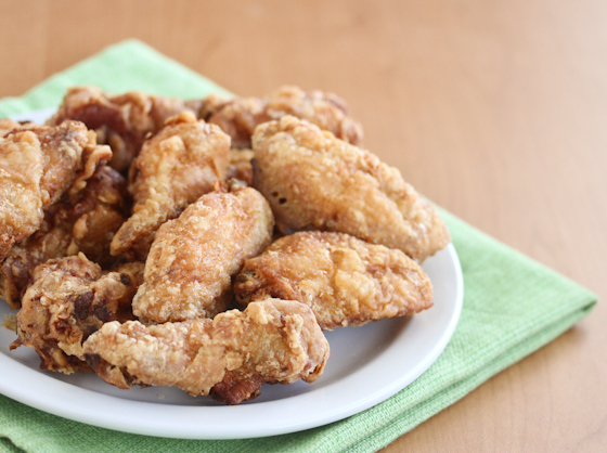 photo of a plate of Korean Fried Chicken wings