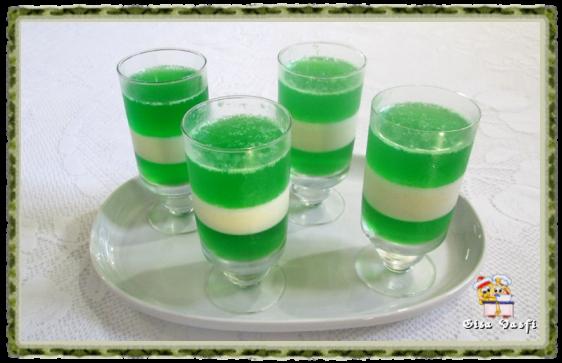 Gelatina bicolor de limão 1