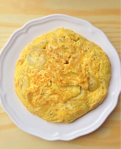 Volando entre ideas tortilla de calabac n y cebolla - Tortilla de calabacin y cebolla ...