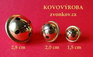 Rolničky 2,8 cm - 2 cm - 1,5 cm