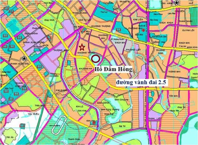 Bản đồ quy hoạch chi tiết đường vành đai 2 5 Hà Nội