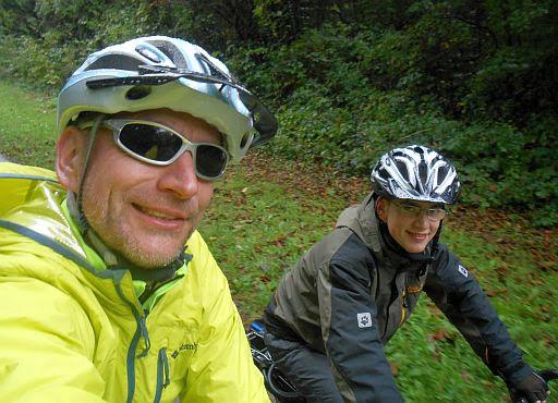 Chris on the Bike und Sebastian Johannsen auf dem Neckar-Radweg