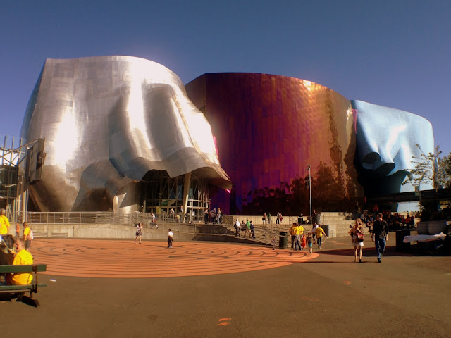The EMP, Experience Music Project museum in Seattle, Washington.