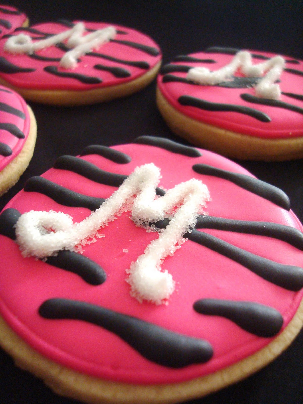 To Match The Decor And Cake For A Little Girls Birthday Party Theme Was Zebra Diva These Cookies Were Perfect As Favors