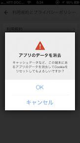 Googleマップのキャッシュデータの消去