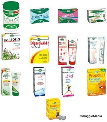 campioni omaggio prodotti naturali ESI