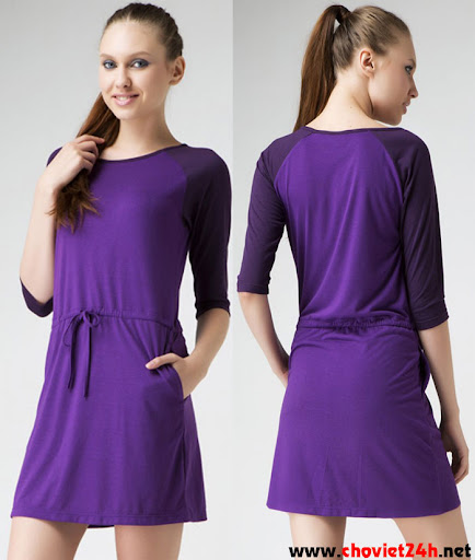 Váy thời trang Sophie Natalya Purple - TNATRS, TNATRM, TNATRL, TNATRXL