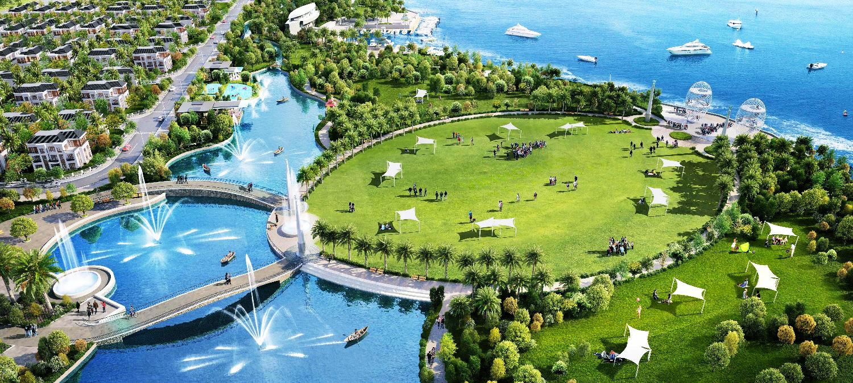 Không gian xanh khu đô thị mới vịnh Thuận Phước