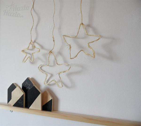 Cómo hacer estrellas colgantes