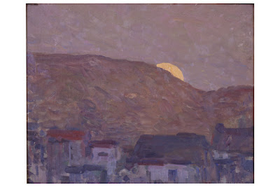 Tiburon, Gottardo Piazzoni (1872-1945), oil on canvas board, City of Monterey Collection.