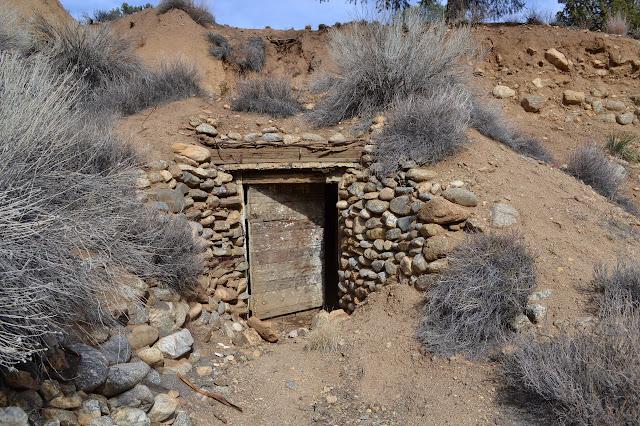 a door into the hillside