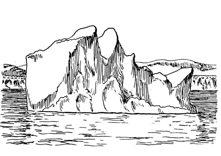 Iceberg para coloriear