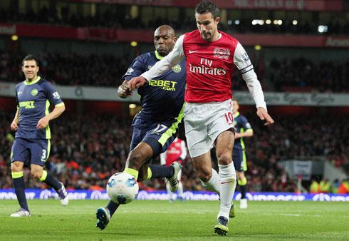 Robin Van Persie, Arsenal - Wigan Athletic