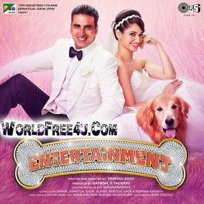 Poster Of Bollywood Movie It's Entertainment (2014) 300MB Compressed Small Size Pc Movie Free Download worldfree4u.com