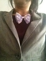 Picture of me wearing bow tie for work