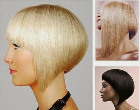 Day cat toc nu co ban kieu toc ngang chui tang thap Dạy cắt tóc nữ cơ bản, Kiểu tóc ngang chúi tầng thấp