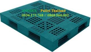 Pallet nhựa mặt lưới tải trọng nặng