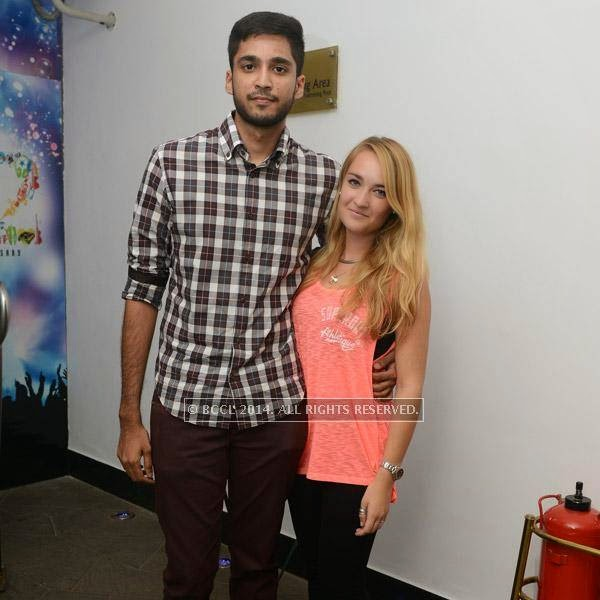 Rahul and Charlotte at the 12th anniversary party of Dublin, held at Sheraton Park and Towers.