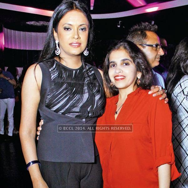 Kajoli Sahgal with Niharika Raje during her b'day party, hosted by her husband Mohit Sahgal at Club BW in the capital.