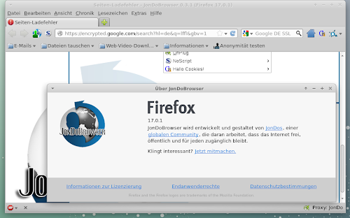 JonDoBrowser su Linux