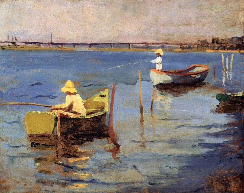 Charles Webster Hawthorne - The Bridge at Provincetown