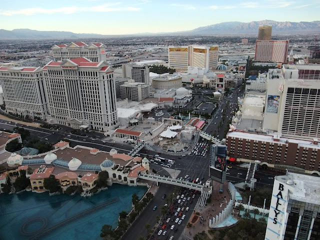 view of the strip from the eiffel tower, las vegas, north, ballys