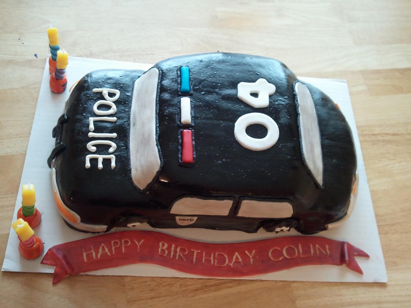 Mimos Custom Cakes Police Car Cake