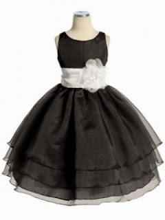 siyah beyaz çocuk elbisesi