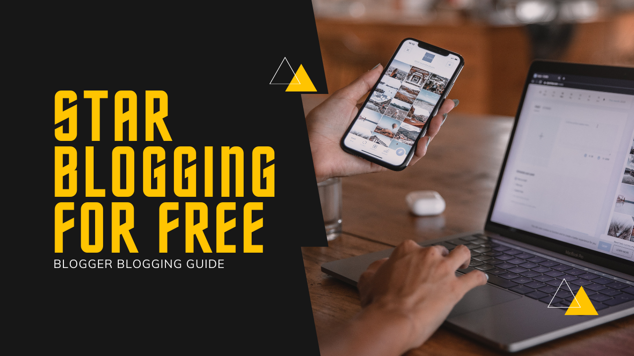How to start a blog by using blogger for free