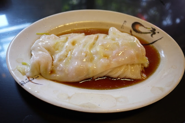 Shrimp rice noodle roll at Wuzhanji (伍湛记) in Guangzhou, China