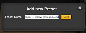 name preset and save