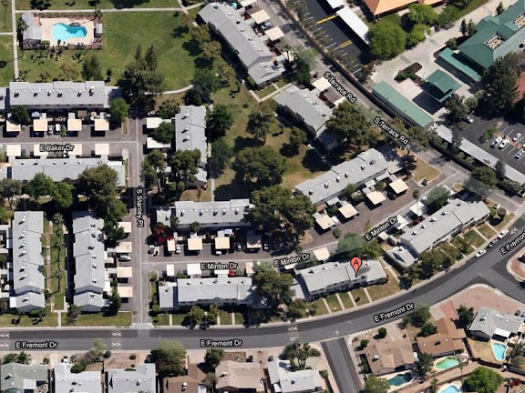 aerial view of Tempe townhome