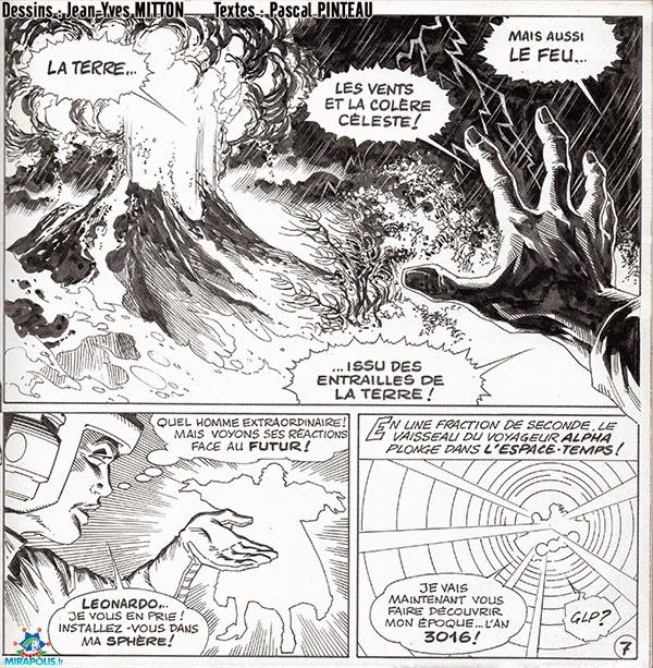 Page 7 de la BD Leonard de Vinci vendue a Mirapolis