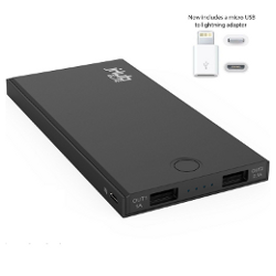 Modern Portable® jHub Elite with Dual Charging Ports (Now includes a micro USB to lightning adapter)- The jHub Elite is a Powerful, Ultra Portable, iPhone 6 External Battery - image