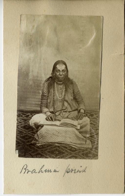 Brahmin Priest - India 1880's