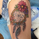 dreamcatcher tattoos on thigh 4
