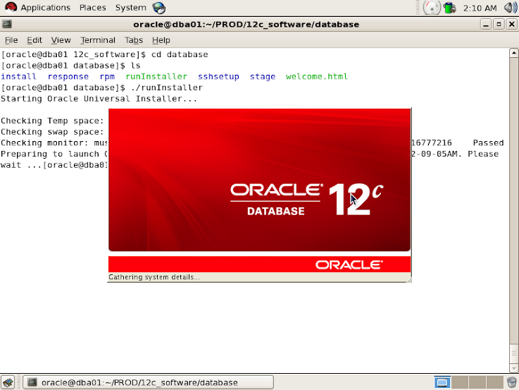 Oracle 12c Installation on Linux - Database, E-Business