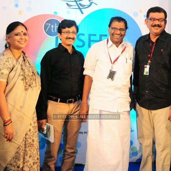 Beena Paul, S Rajendran Nair, Thiruvanchoor Radhakrishnan and Priyadarshan<br /> during the International Documentary and Short Film Festival, held at Trivandrum.