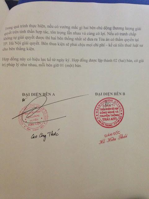 ThaiAiTi ký hợp đồng thiết kế web Huyện Đoàn Hậu Lộc – Thanh Hóa