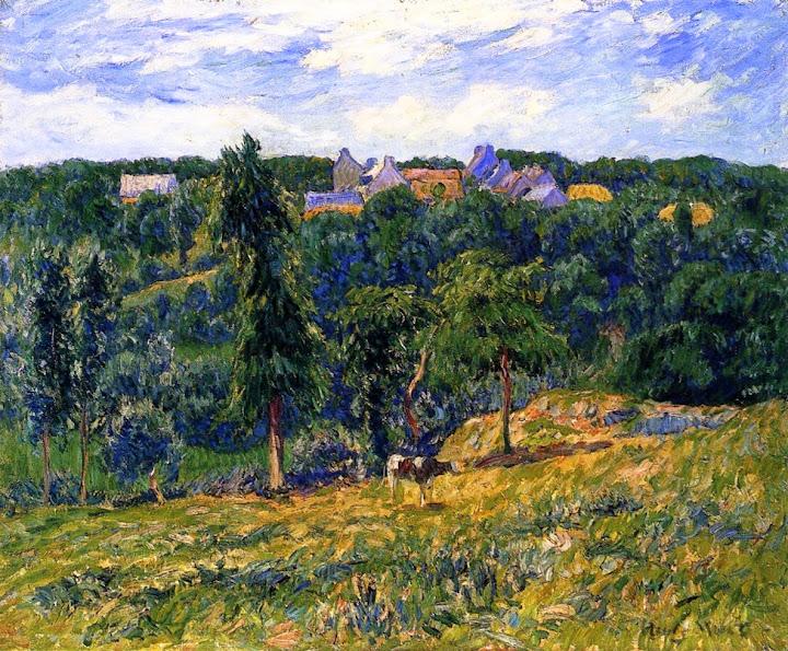Henry Moret - Village near Clohars, c. 1908
