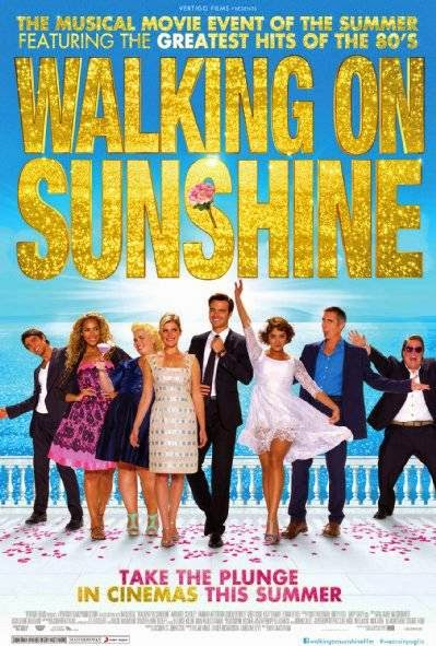 Poster Of English Movie Walking on Sunshine (2014) Free Download Full New Hollywood Movie Watch Online At alldownloads4u.com