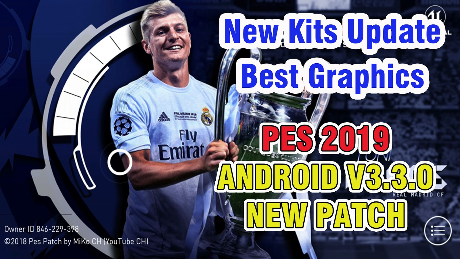 e2dd6e1c6 PES 2019 Mobile Patch V3.3.0 Android Offline New Kits Update Best Graphics  - Mod