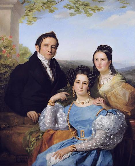 François-Joseph Navez - Théodore Joseph Jonet and his two daughters