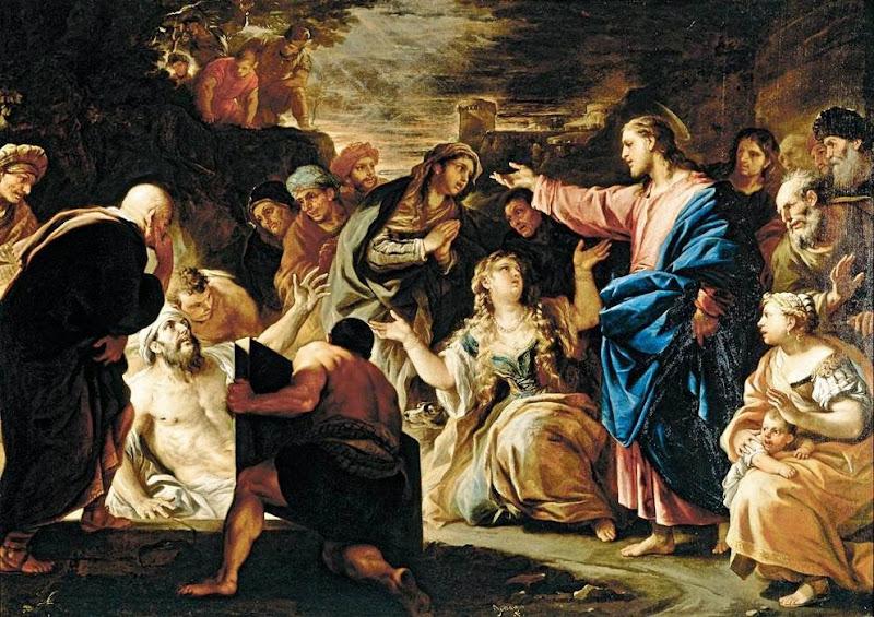 Luca Giordano - Raising of Lazarus, c. 1675
