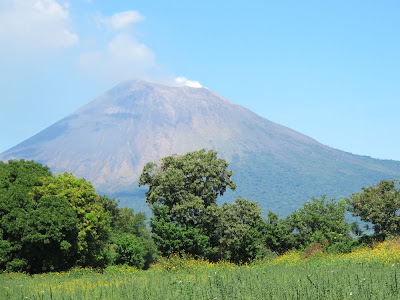 The beautiful volcano just outside of Leon on the way to Chinandega