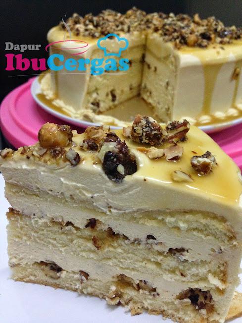 Kek Pecan Hazelnut Butterscotch Cake Dapur At Ibucergascom