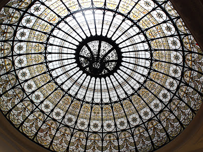 Dome of the 1901 restaurant at the Andaz hotel on Liverpool Street in London England