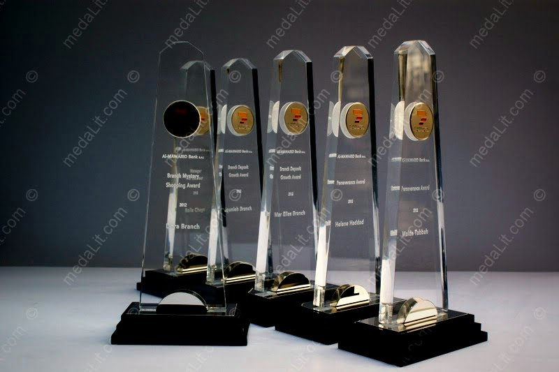 Luxor Acrylic Awards from Absi co. Emerald Collection
