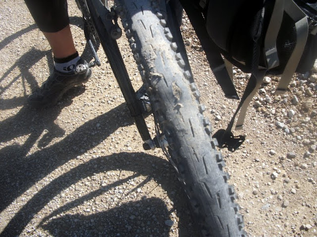 Gashed tire at Dirty Kanza 200